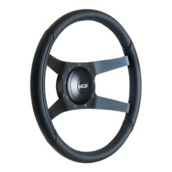 52-5375 GT9 Pro-Touring Wheel, Sport, Leather, Black Anodized Spokes, Angle View - GT Performance