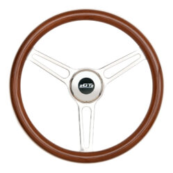 31-5847 GT3 Retro Gasser Wheel, Slot Spokes, Wood - GT Performance