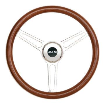 31-5847 GT3 Retro Gasser Wheel, Slot Spokes, Wood - GT Performance